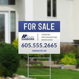 Picture of 22x28 Yard Signs with H-Frame Two-Sided